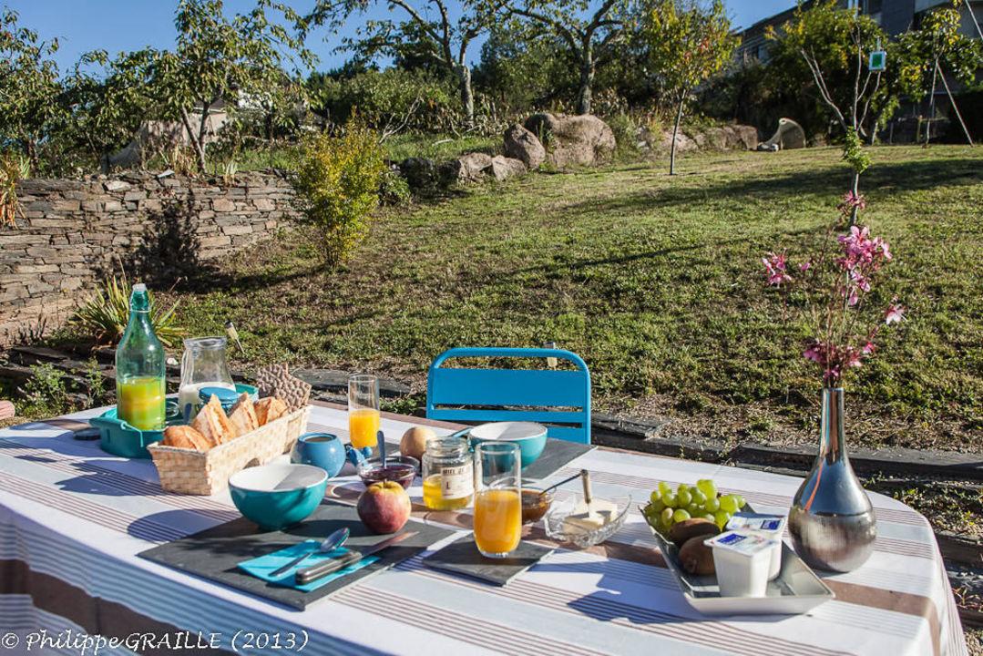 Petit-déjeuner au jardin\