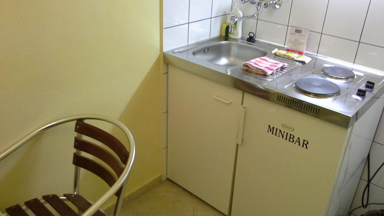 Küche mit minibar\