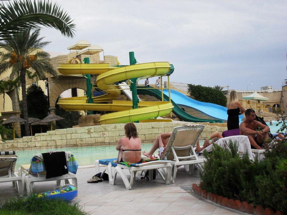 Piscine avec toboggans Hotel Houda Golf & Beach Club