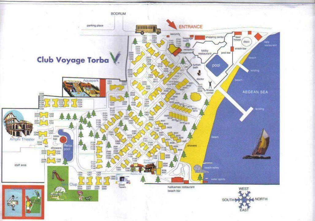 Türkische ägäis Karte.Karte Der Hotelanlage Voyage Torba Torba Holidaycheck