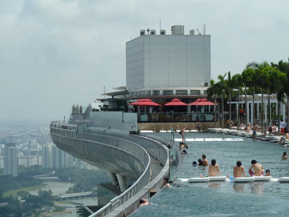 Singapur Hotel Pool Auf Dach