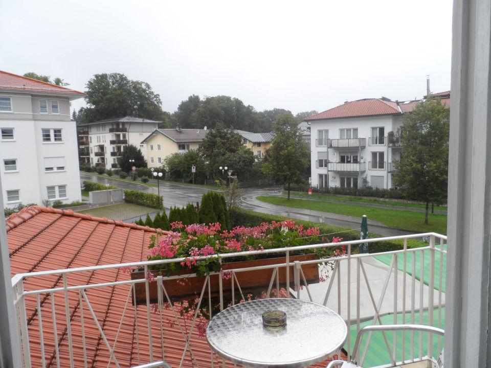 Der geräumige Balkon Hotel Das Schlößl