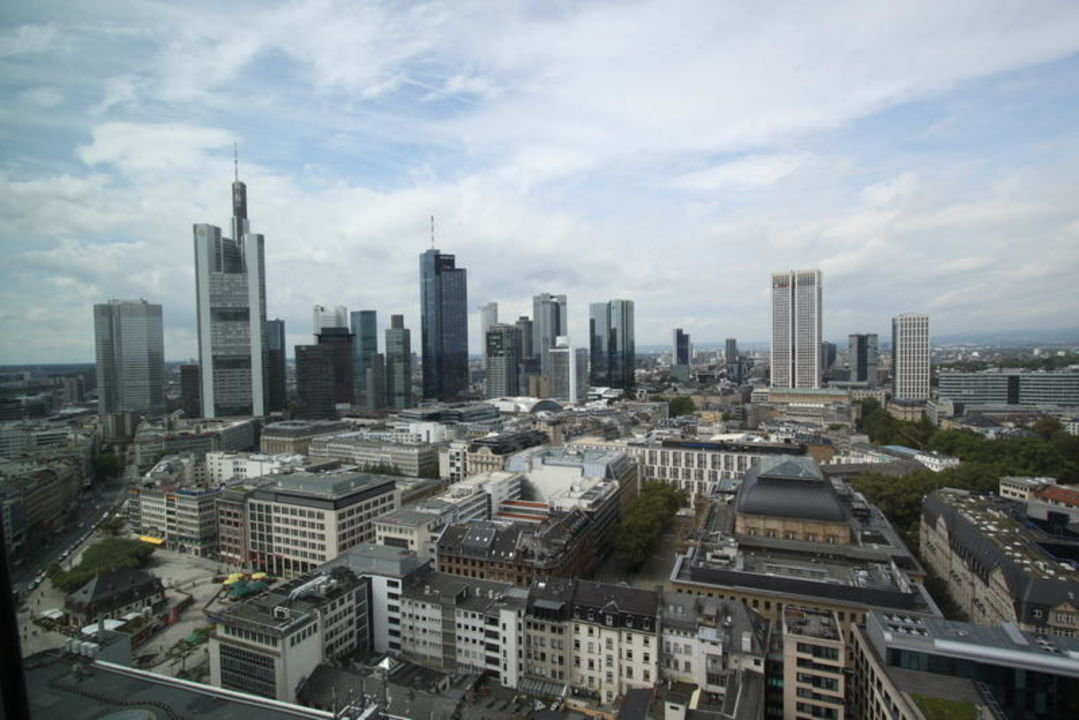 Frankfurt Hotel Blick Skyline