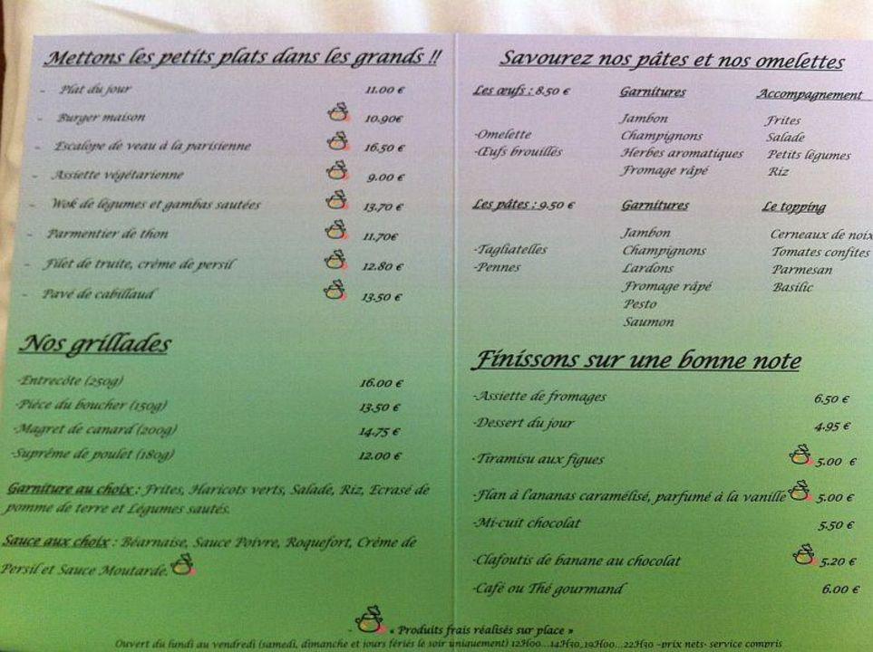Quot Die Speisekarte Quot Hotel Ibis Porte De Montreuil In Paris