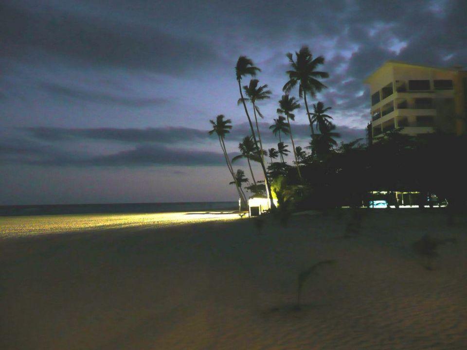 Aussicht abends vom Grillrestaurant Hotel Capella Beach Resort  (geschlossen)