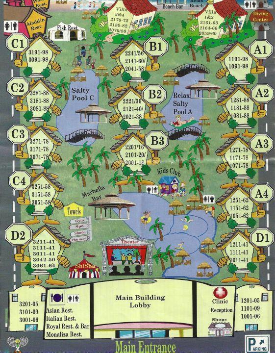 Makadi Bay Karte.Karte Von Der Ganzen Anlage Serenity Makadi Beach Makadi Bay
