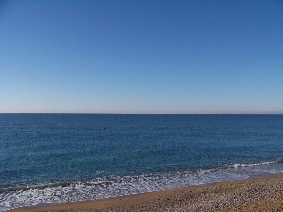 Mittelmeer und Strandbereich im Herbst Hotel Venüs/Venus