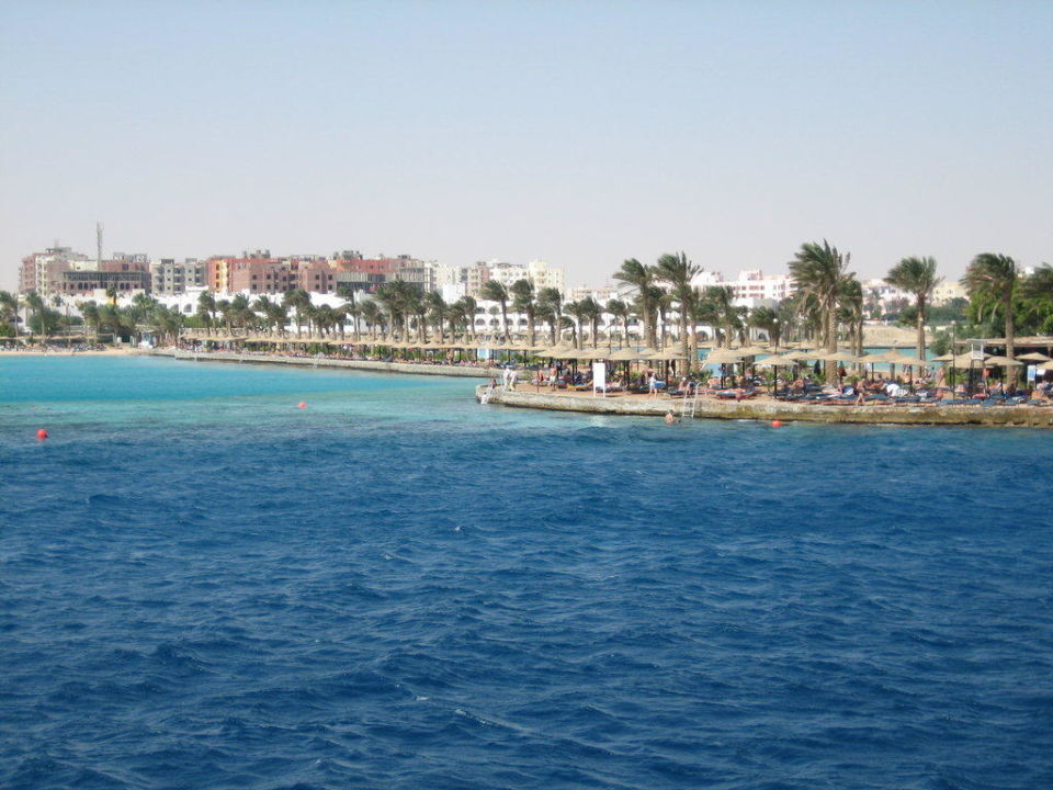 Nochmal vom Meer aus Arabia Azur  Resort
