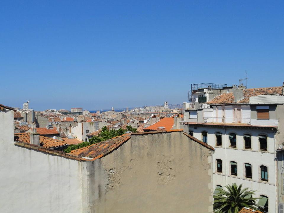 Blick Von Unserem Balkon Hotel Premiere Classe Marseille Centre