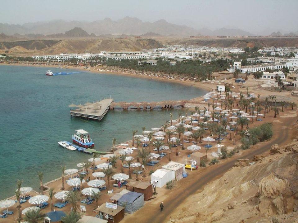 Aussicht vom Lift nach rechts auf Sharm el Sheikh Beach Albatros Resort Sharm El Sheikh (geschlossen)