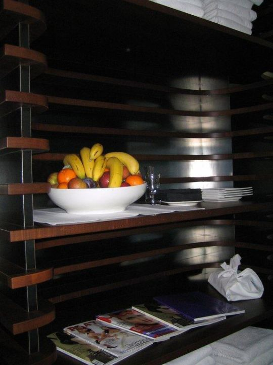 Obst im Wellnessbereich Hotel Roomers