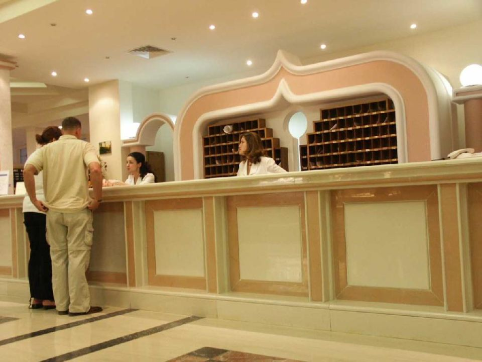 Rezeption, immer nett und freundlich Hotel Kalithea Mare Palace