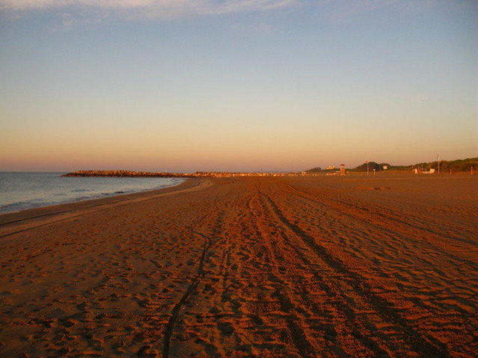 Strand im Abendrot Camping Union Lido