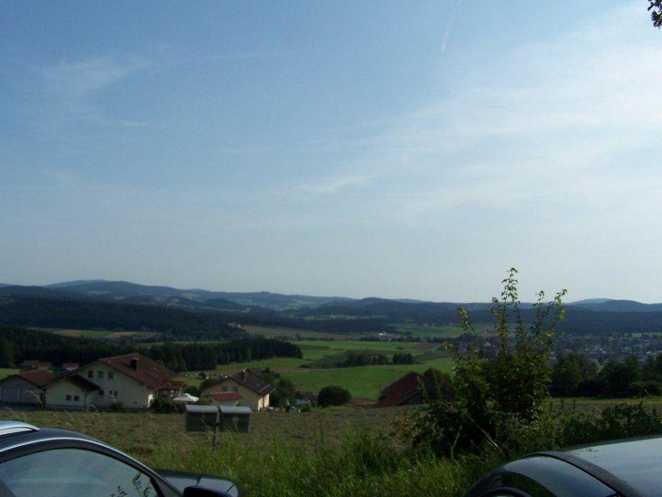 """""""Von der Veranda gesehen"""" Haus am Berg Rinchnach"""