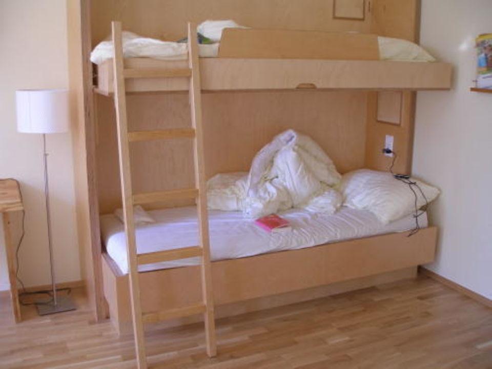 bild stockbett im familienzimmer zu jufa hotel waldviertel in raabs an der thaya. Black Bedroom Furniture Sets. Home Design Ideas