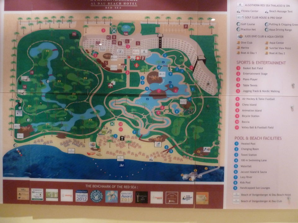 Karte Der Anlage Steigenberger Aldau Beach Hotel Hurghada