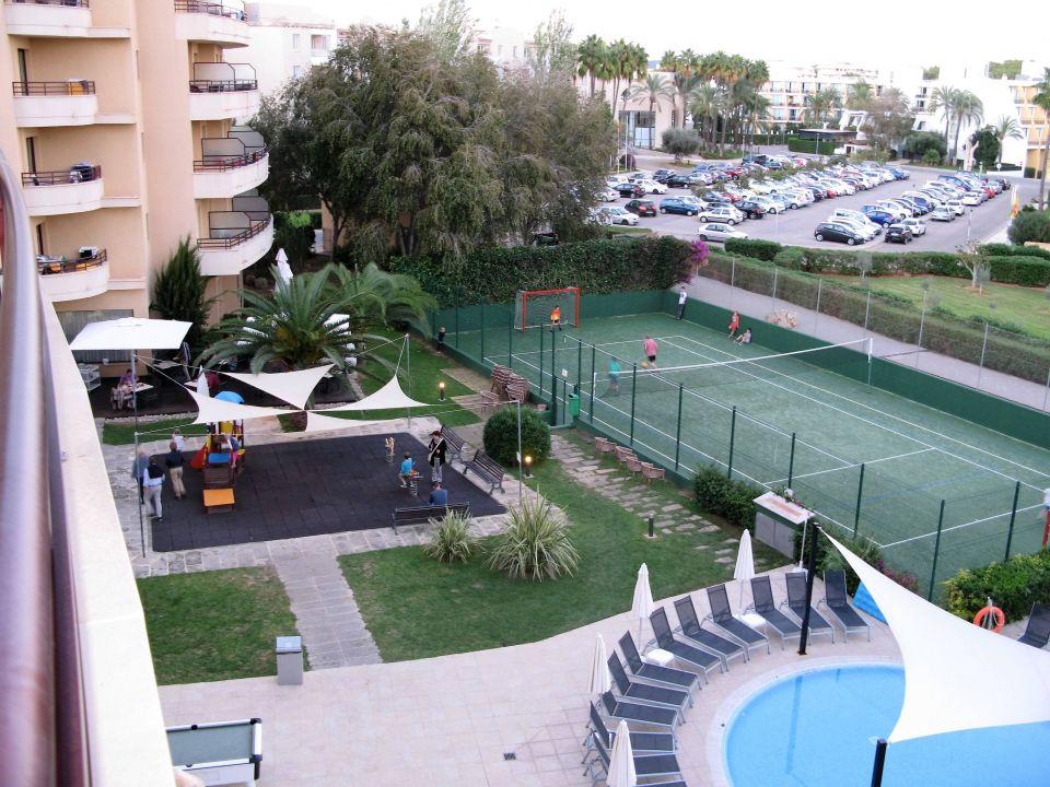 Blick Auf Kinderpool Tennisplatz Allsun Hotel Orient Beach Sa Coma