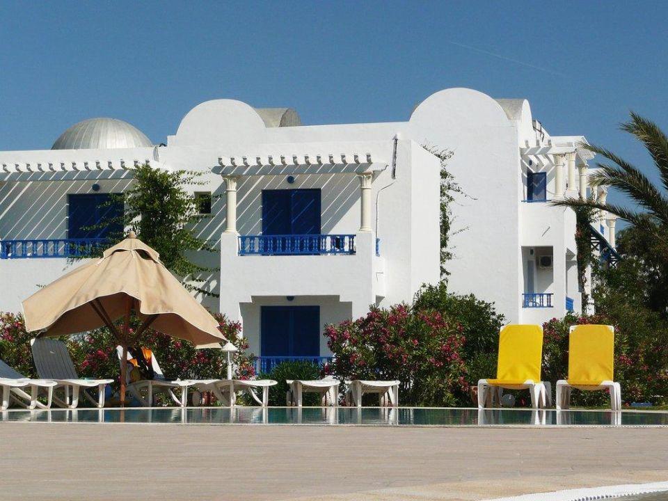 Eines der schönen Häuser in dieser Anlage Hotel Eldorador Salammbo