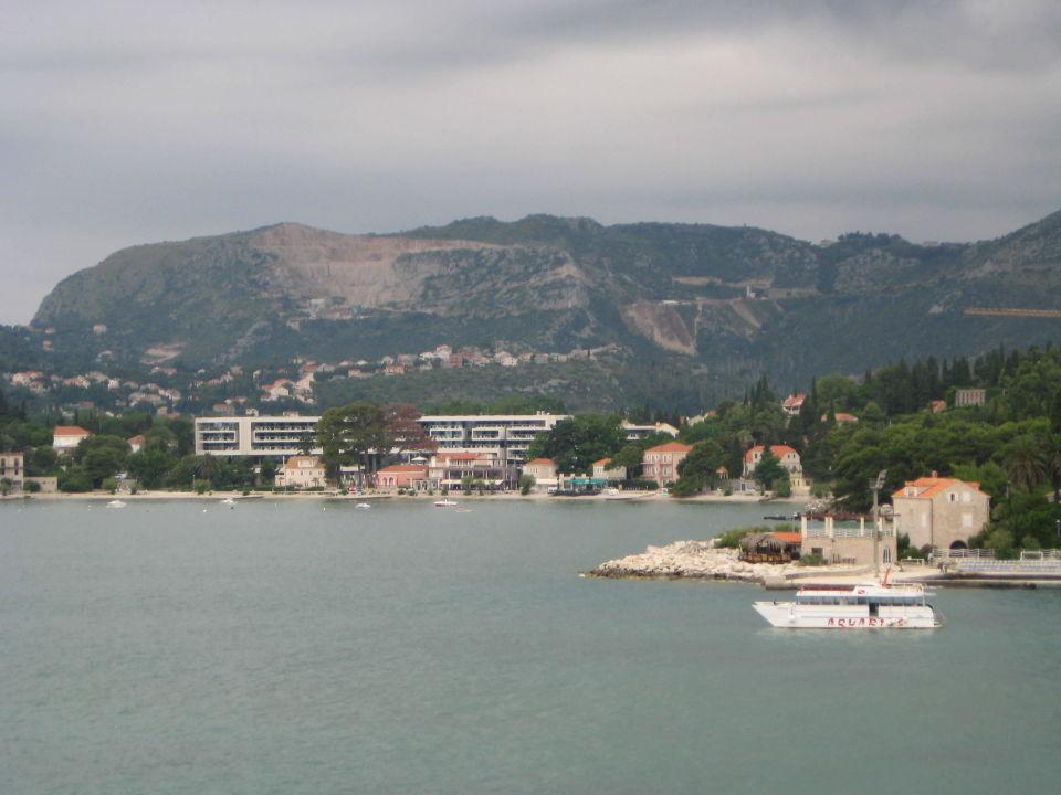 Blick auf Hafen Mlini und Srebreno Villa Adria