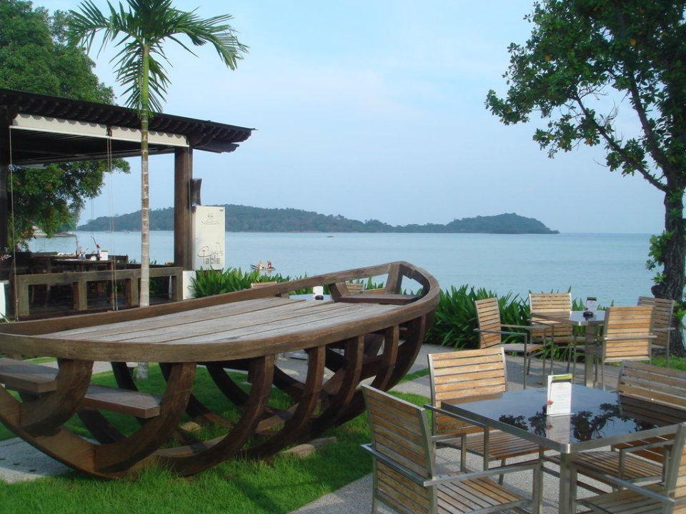 Ausblick vom Pool bzw. Barbereich Hotel Sareeraya Villas & Suites