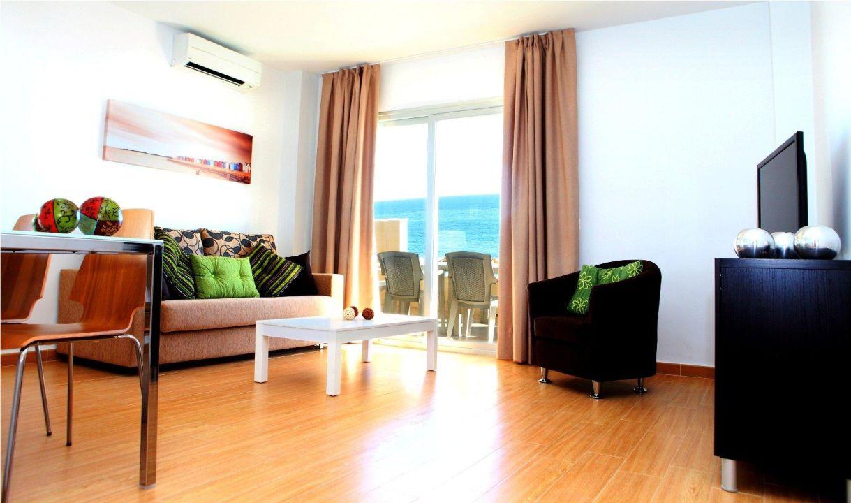 Apartment living room Aparthotel Vegasol-Playa