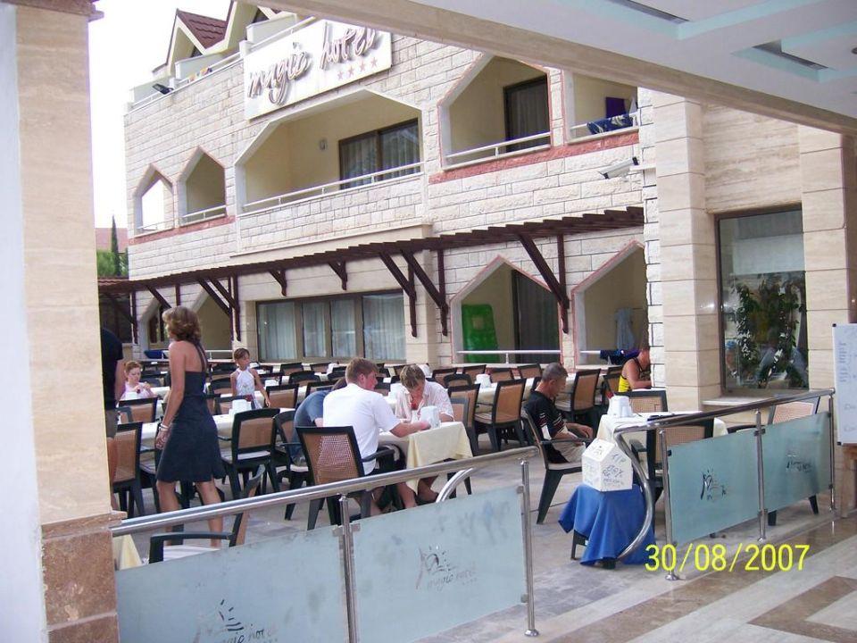 Restaurant außen Himeros Life Hotel