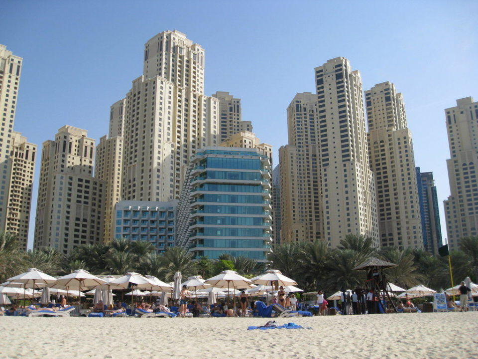 Ansicht vom Strand Hilton Dubai Jumeirah