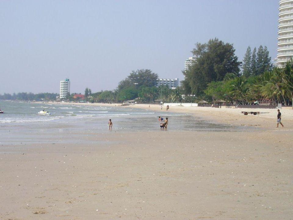 Südlicher Strandabschnitt Hotel Beach Cha Am