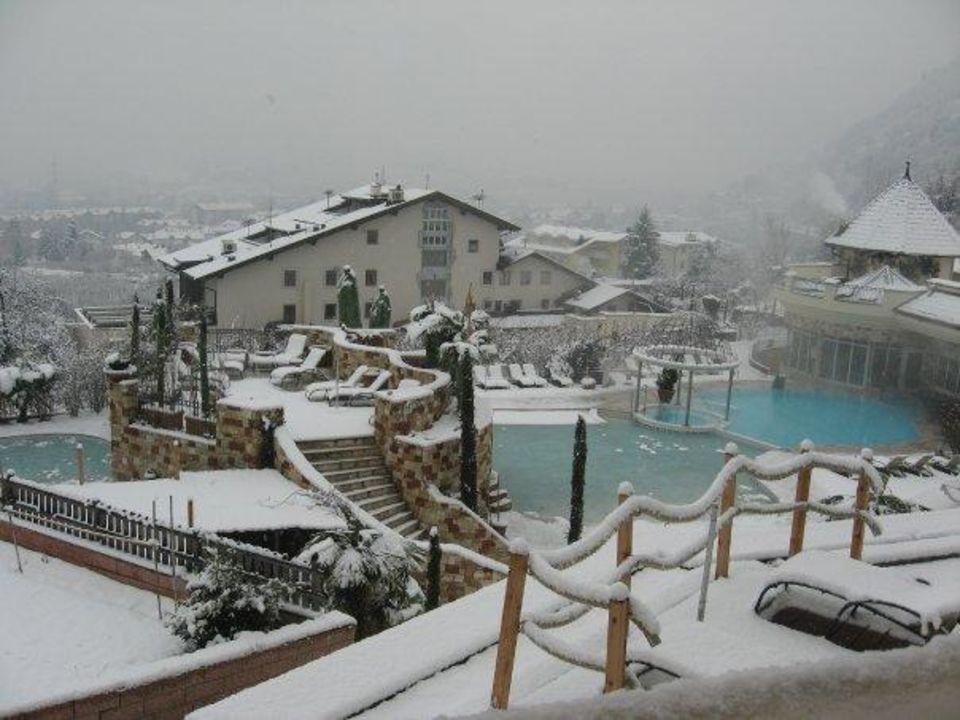 Vista della piscina Esterna Riscaldata Luxury DolceVita Resort Preidlhof