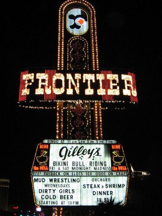 Reklameschild - The New Frontier Hotel The New Frontier  (existiert nicht mehr)