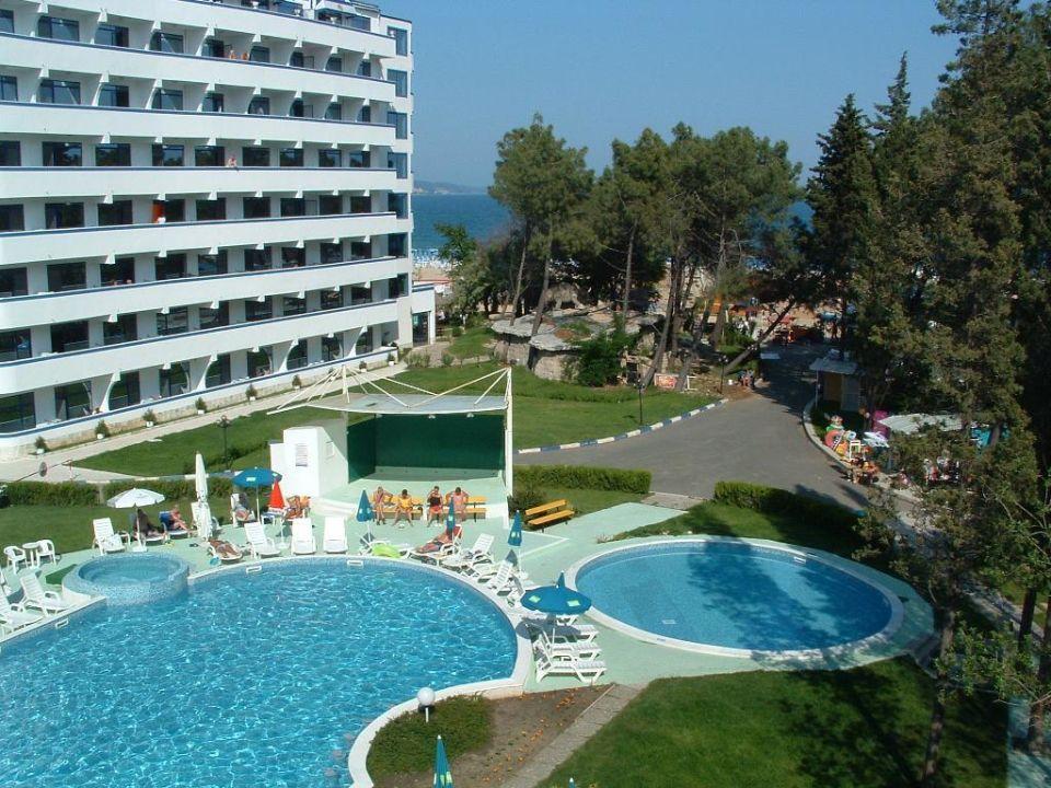 Hotel Avliga Beach - Blick vom Balkon zum Strand (Strandprom Hotel Avliga Beach
