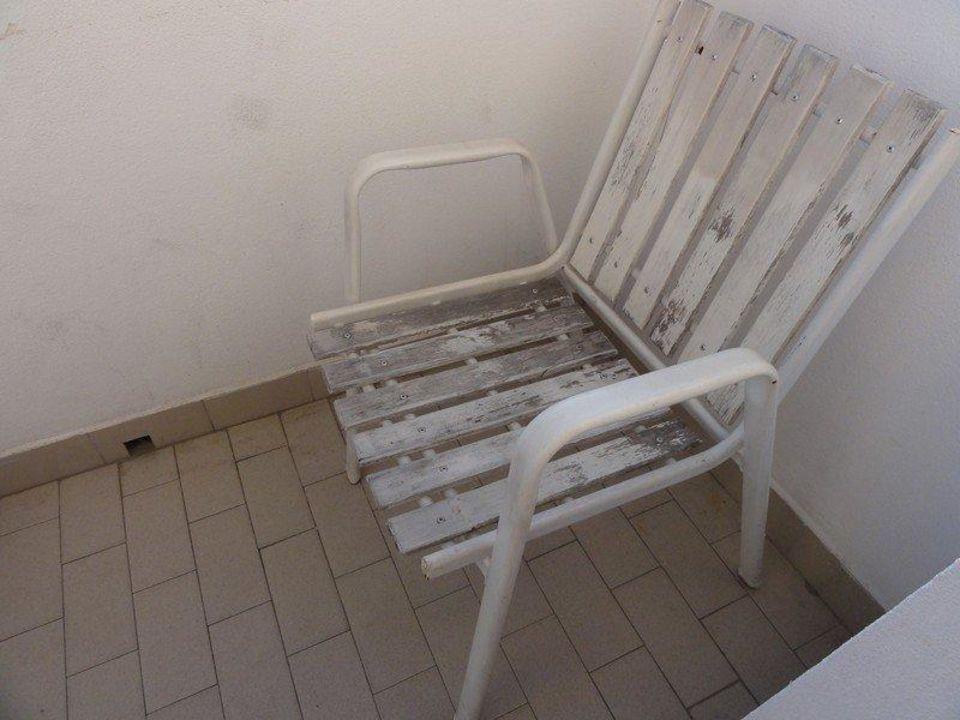 Stuhl auf dem Balkon Hotel Augustus