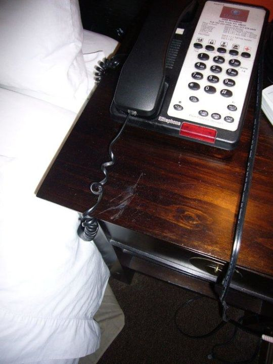 Der Nachttisch mit Fleck Hotel Marrakech
