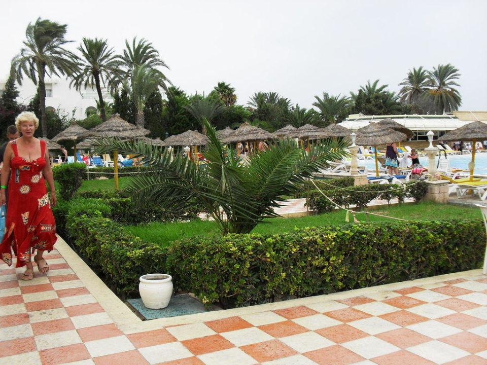Allée dans le jardin Hotel Houda Golf & Beach Club