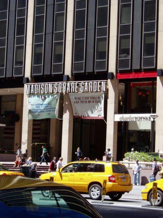 Ausblick Vom Hotel Auf Den Madison Square Garden New York S Hotel