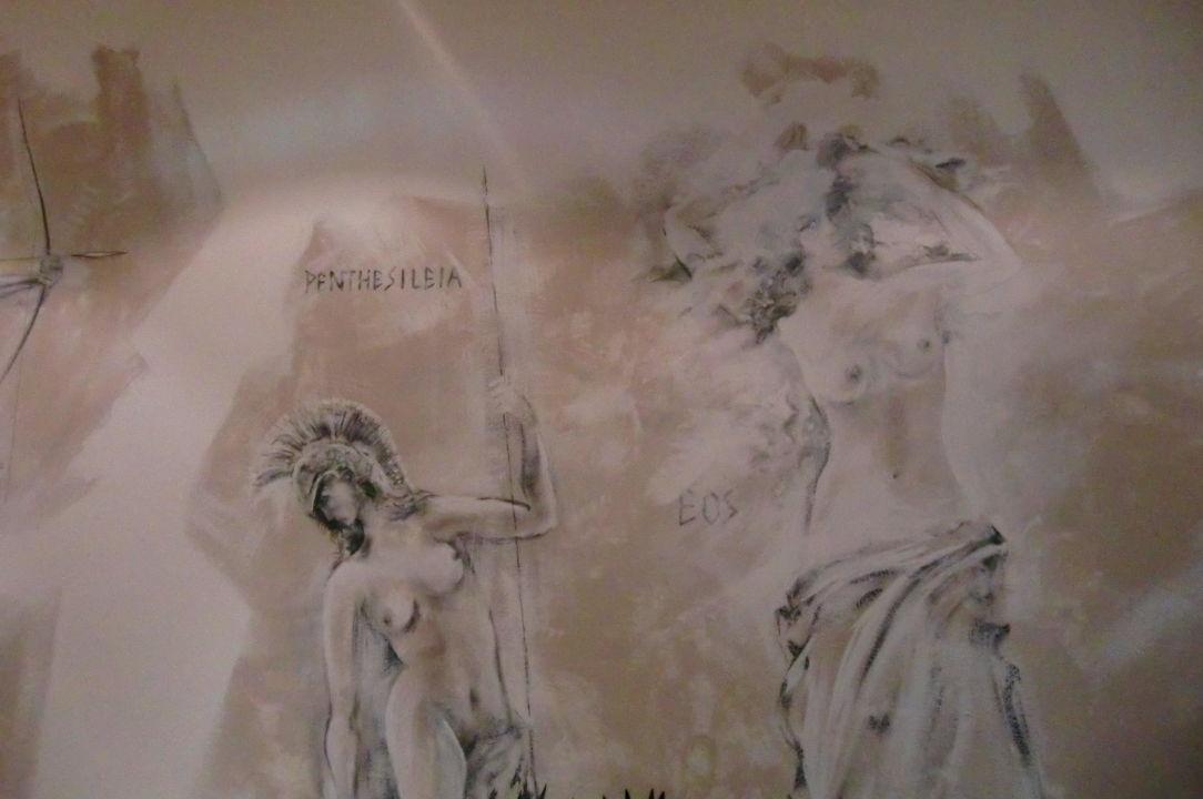 Tolle Wandmalerei im Saunaruheraum Hotel Alexander am Zoo
