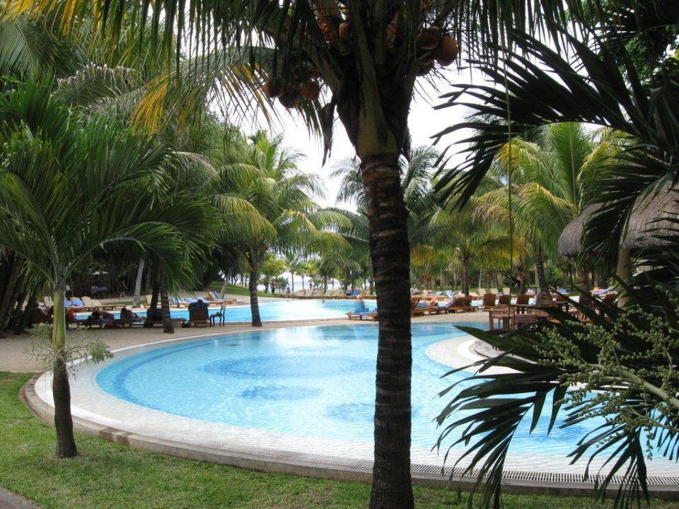 Blick von der Bar aus Richtung Pool / Meer Canonnier Beachcomber Golf Resort & Spa