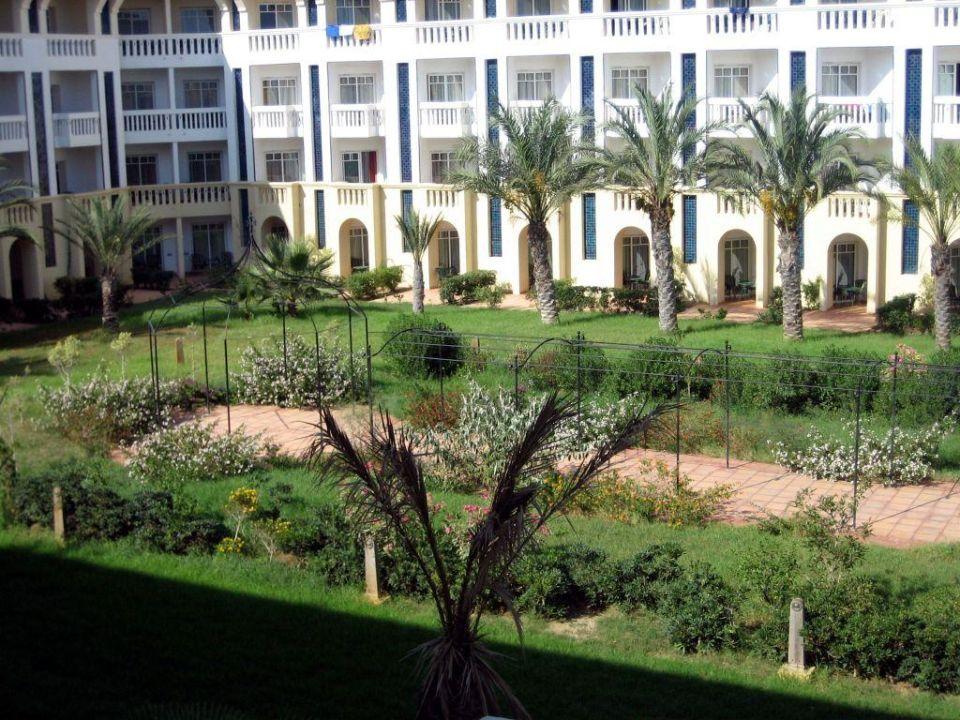 Blick auf den Garten Hotel Medina Belisaire & Thalasso