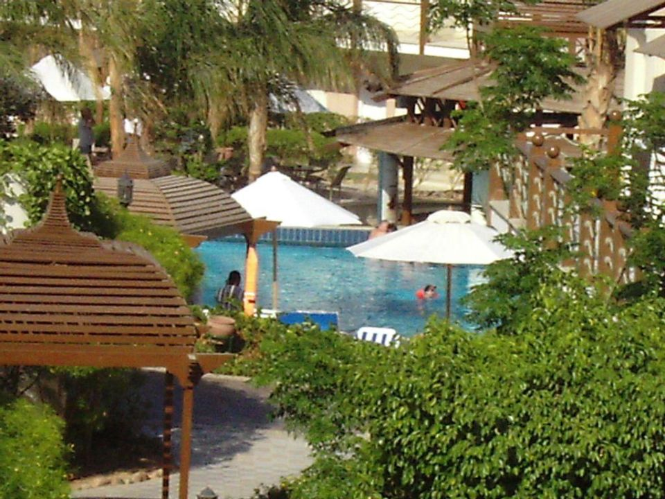 Balkon Aussicht Richtung Pool Concorde El Salam Hotel Sharm el Sheikh
