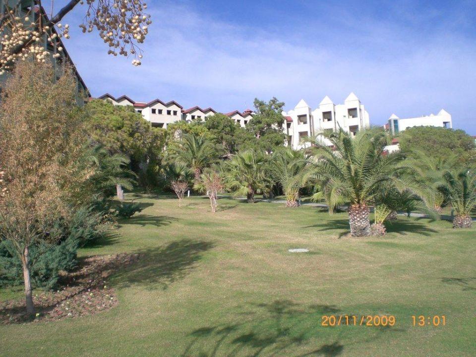 Blick vom Garten Arcanus Side Resort