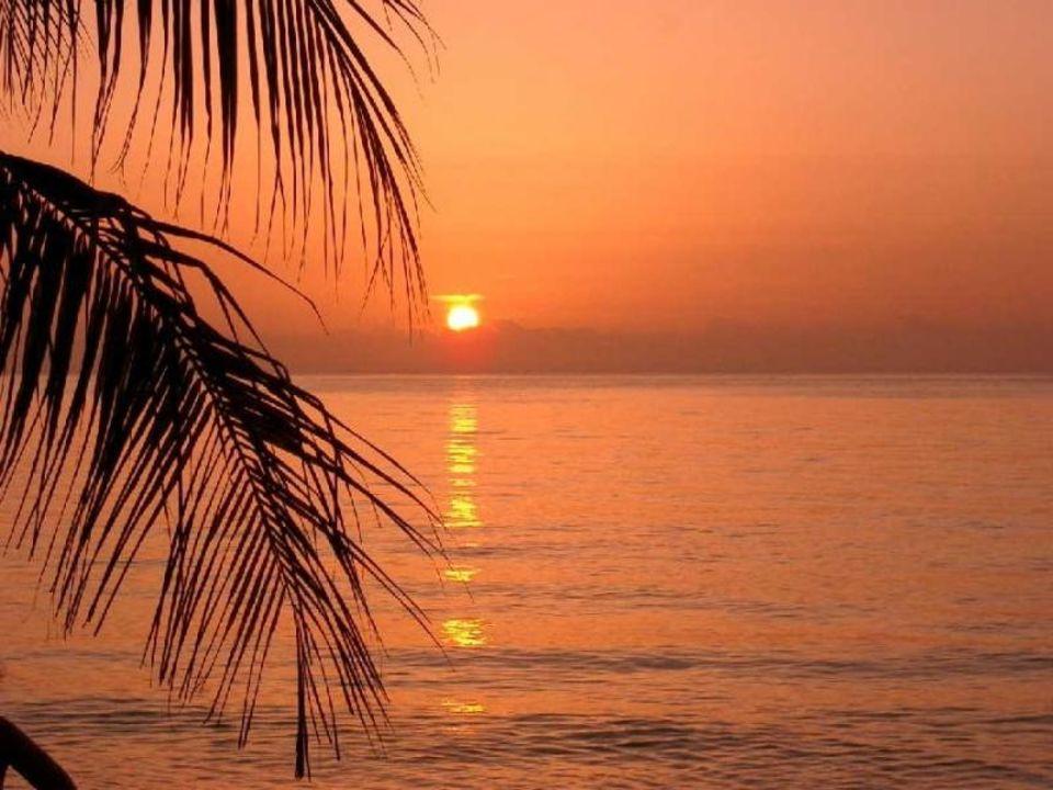 Sonnenuntergang, Abendstimmung auf Jamaica Hotel Legends Beach Resort