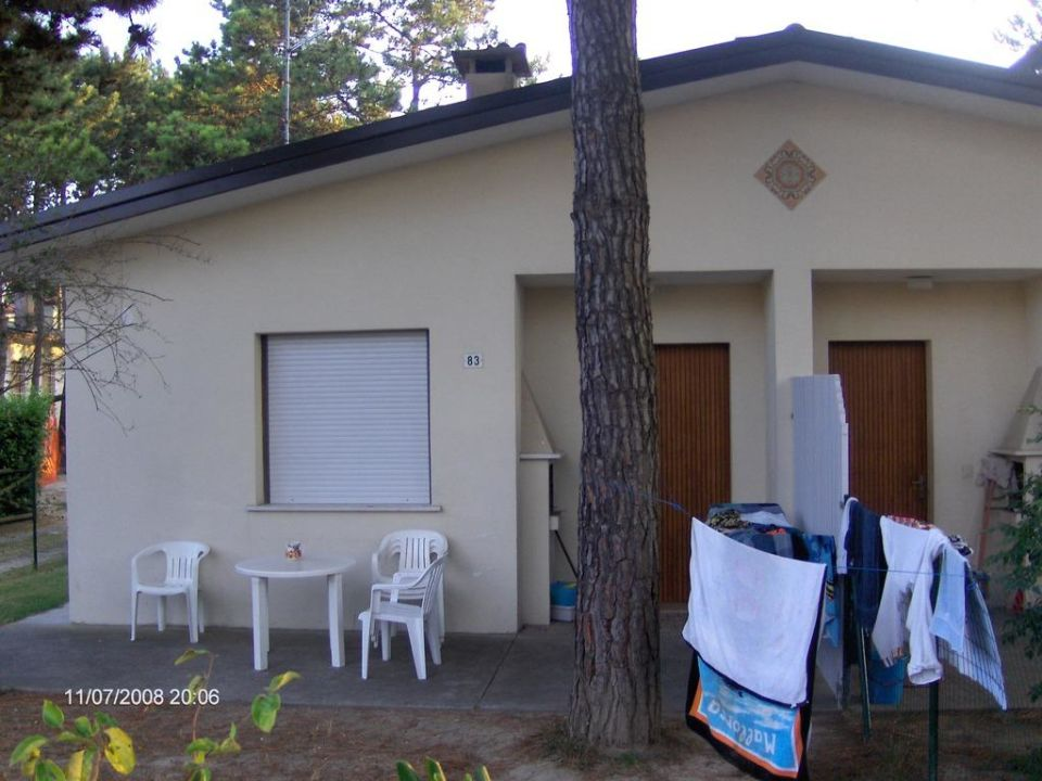 Terrasse (leider nicht überdacht) Doppelbungalows Le Palme