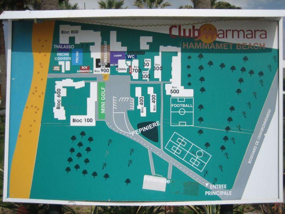 Plan De Lu0027hotel Club Marmara Hammamet Beach