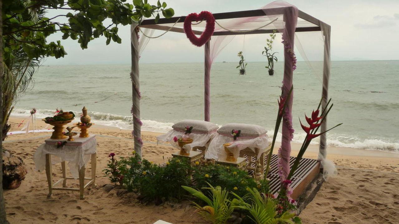 Dekoration für eine Hochzeit Peace Resort