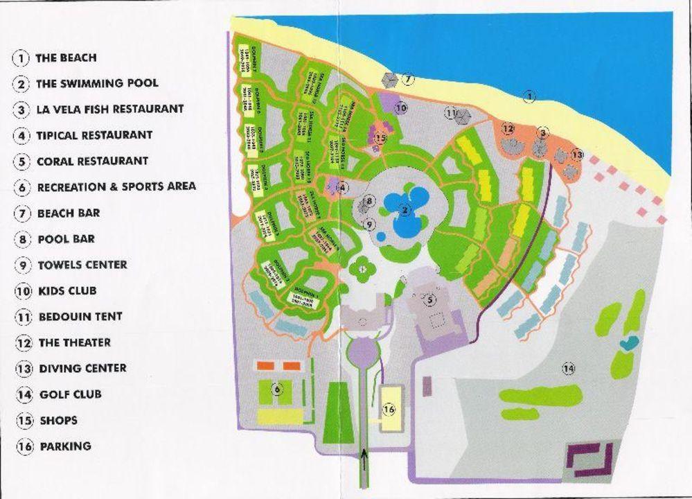 """""""Lageplan"""" Hotel Gorgonia Beach in Marsa Alam ..."""