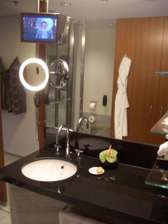 Bad mit TV Hotel Grand Hyatt Berlin