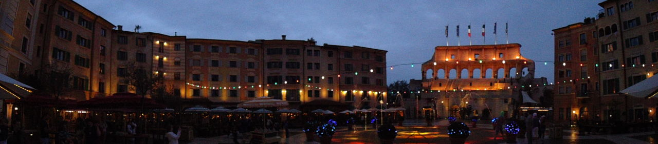 Panoramabild Colosseobogen Hotel Colosseo Europa-Park