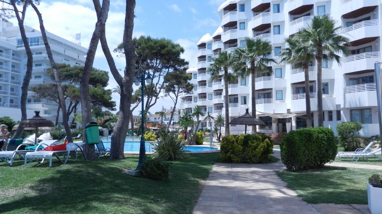 Vom Strandzugang Richtung Anlage Playa Esperanza Suites