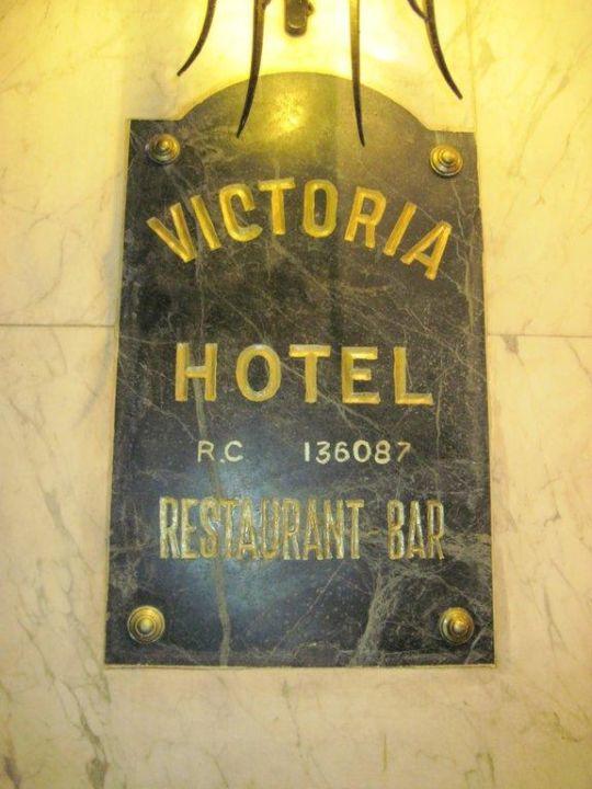 Hotelschild Hotel Victoria