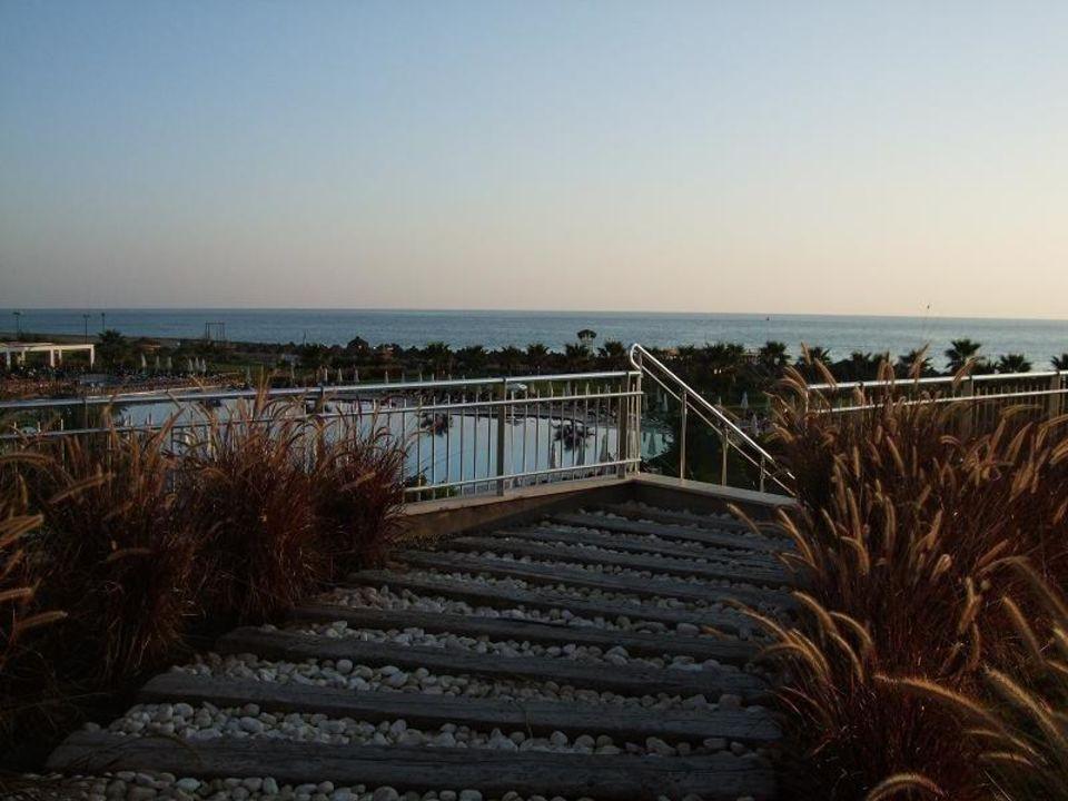 Blick von der Terrasse des Adult Restaurants Voyage Belek Golf & Spa